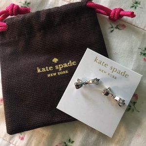 NWT Kate Spade Silver Bow Earrings